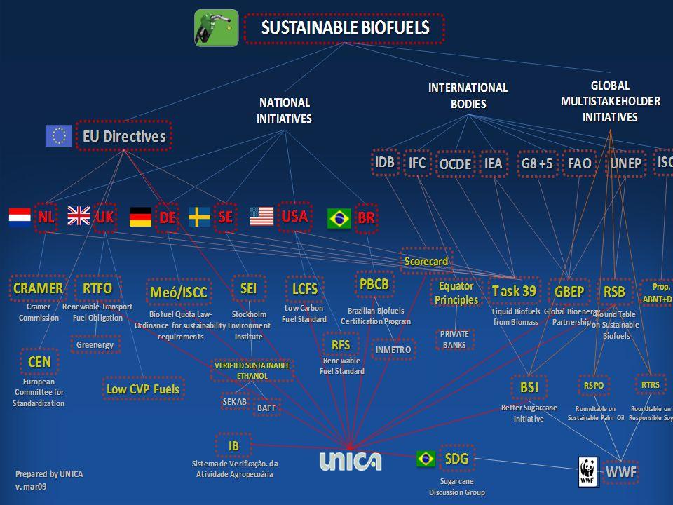 Como resultado destas indefinições da Diretiva, ocorre a disseminação de inúmeras iniciativas de certificações para diferentes tipos de biocombustíveis.