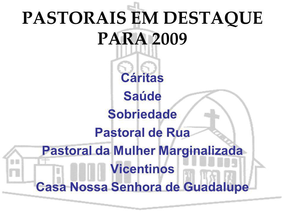 PASTORAIS EM DESTAQUE PARA 2009
