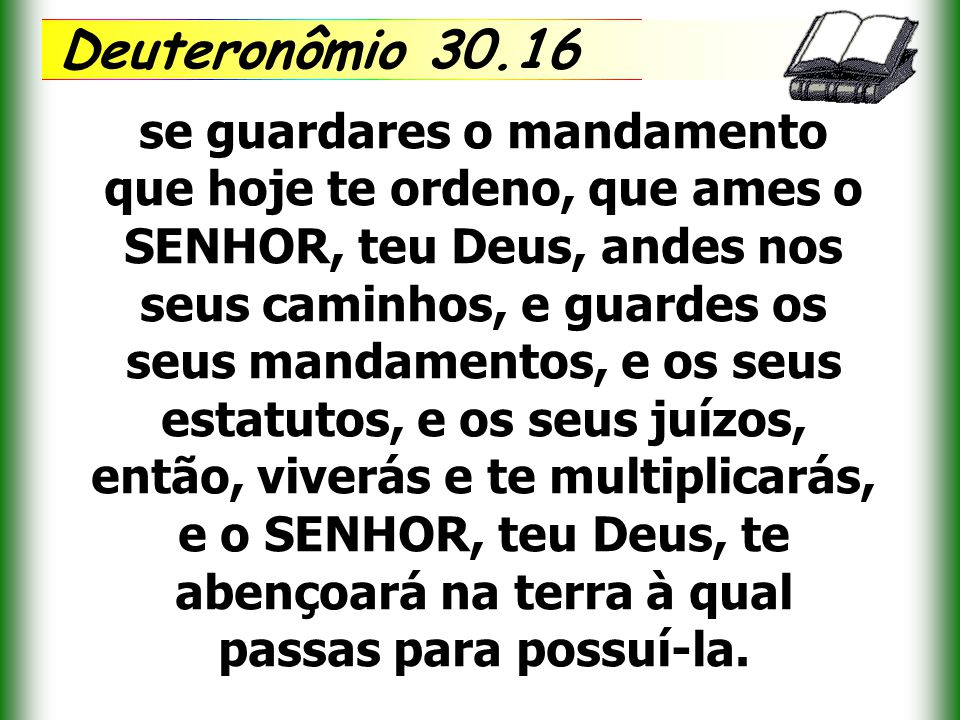 Deuteronômio 30.16