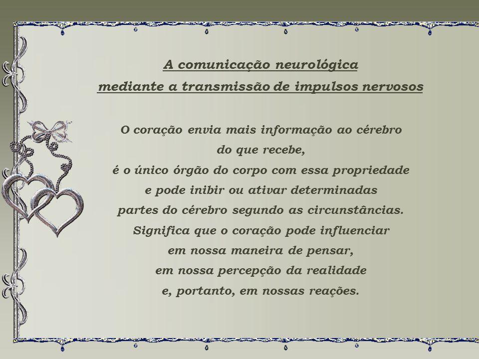 A comunicação neurológica mediante a transmissão de impulsos nervosos