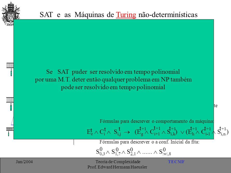 SAT e as Máquinas de Turing não-determinísticas