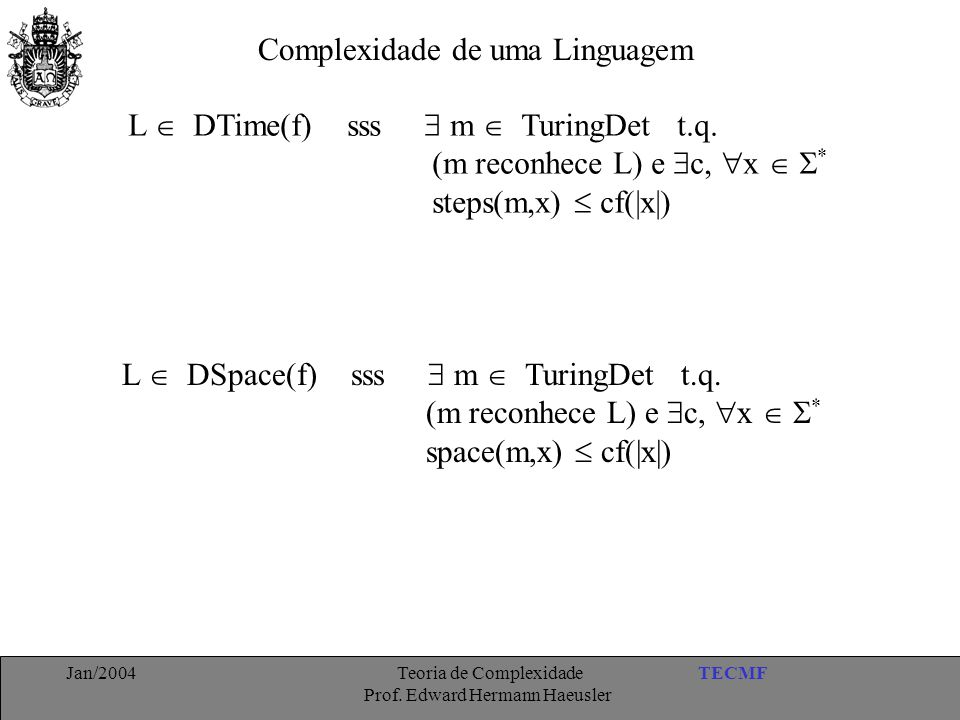 Complexidade de uma Linguagem