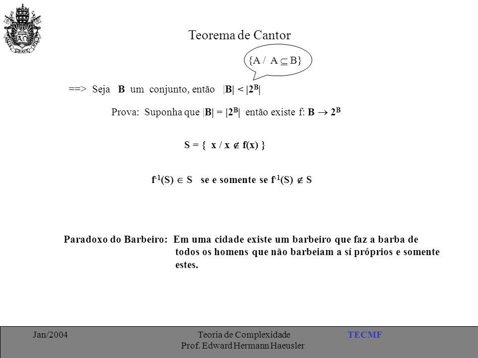 Teorema de Cantor {A / A  B}