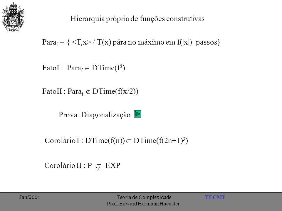Hierarquia própria de funções construtivas