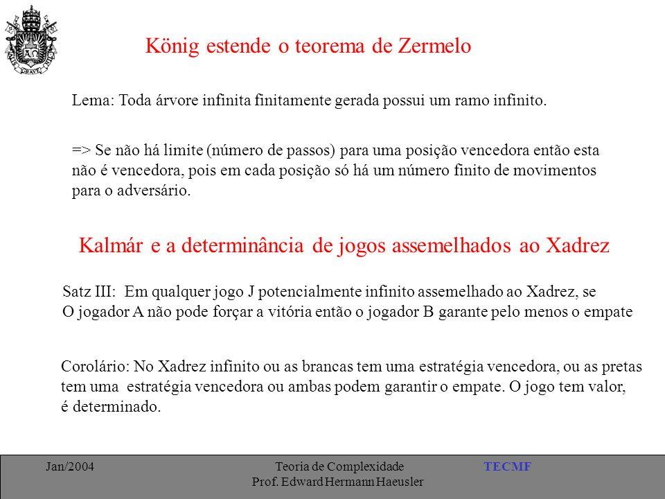 König estende o teorema de Zermelo