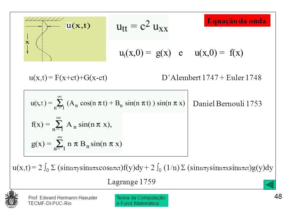 ut(x,0) = g(x) e u(x,0) = f(x)