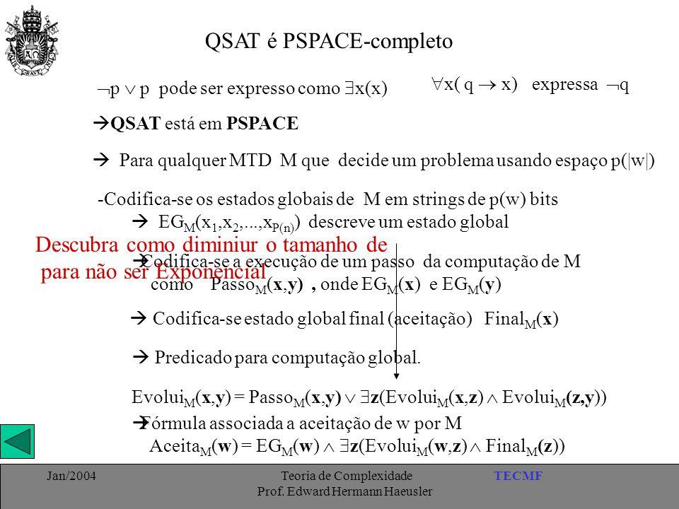 QSAT é PSPACE-completo