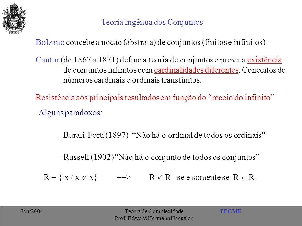 Teoria Ingênua dos Conjuntos