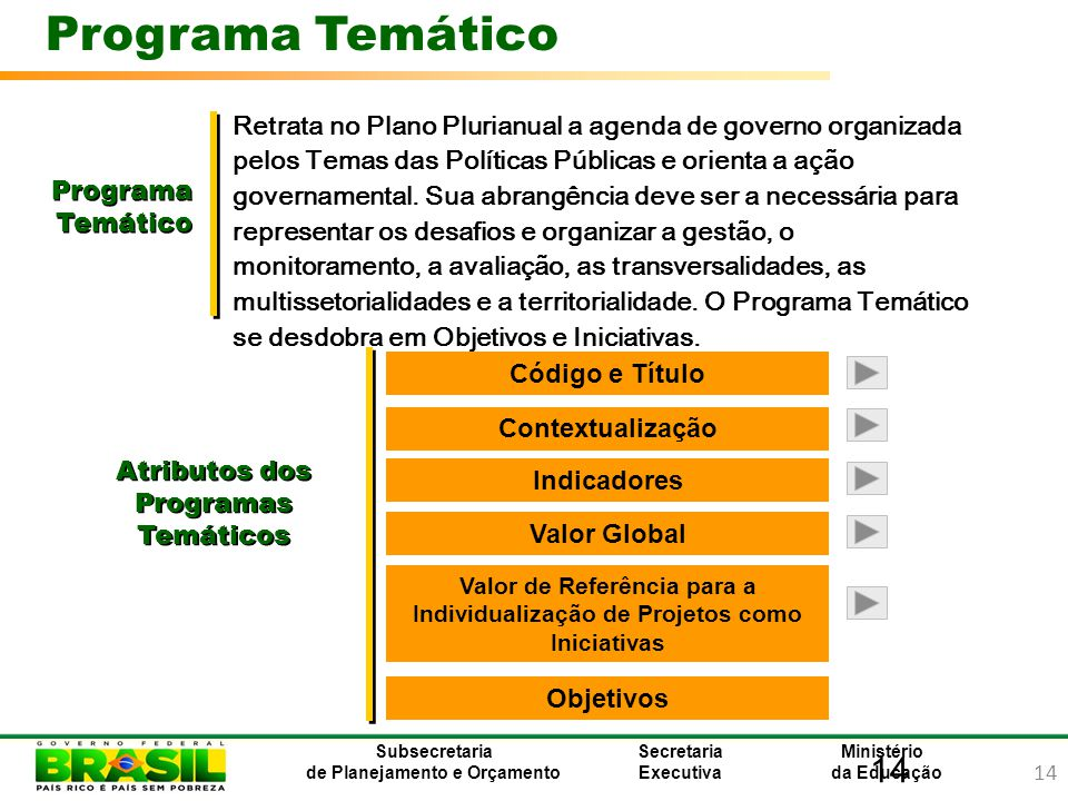 Atributos dos Programas Temáticos