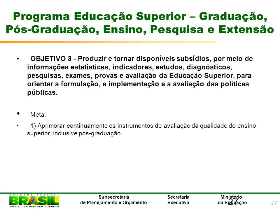 Programa Educação Superior – Graduação, Pós-Graduação, Ensino, Pesquisa e Extensão