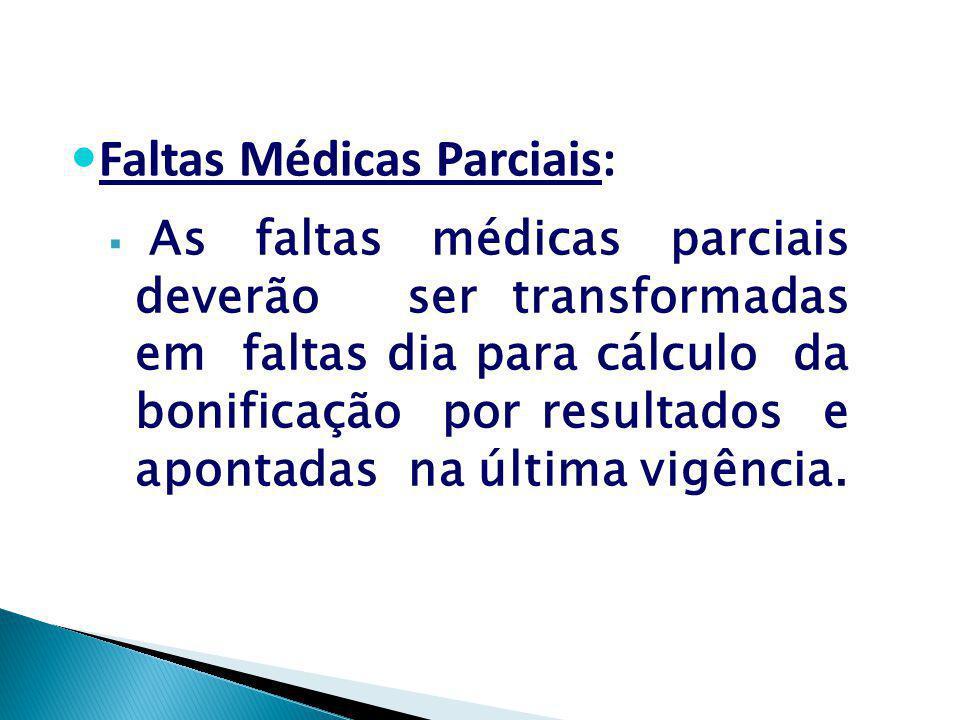 Faltas Médicas Parciais: