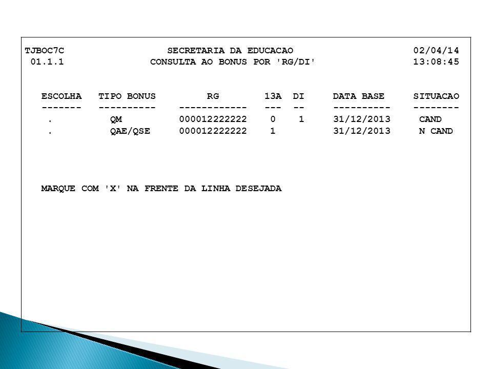 TJBOC7C SECRETARIA DA EDUCACAO 02/04/14
