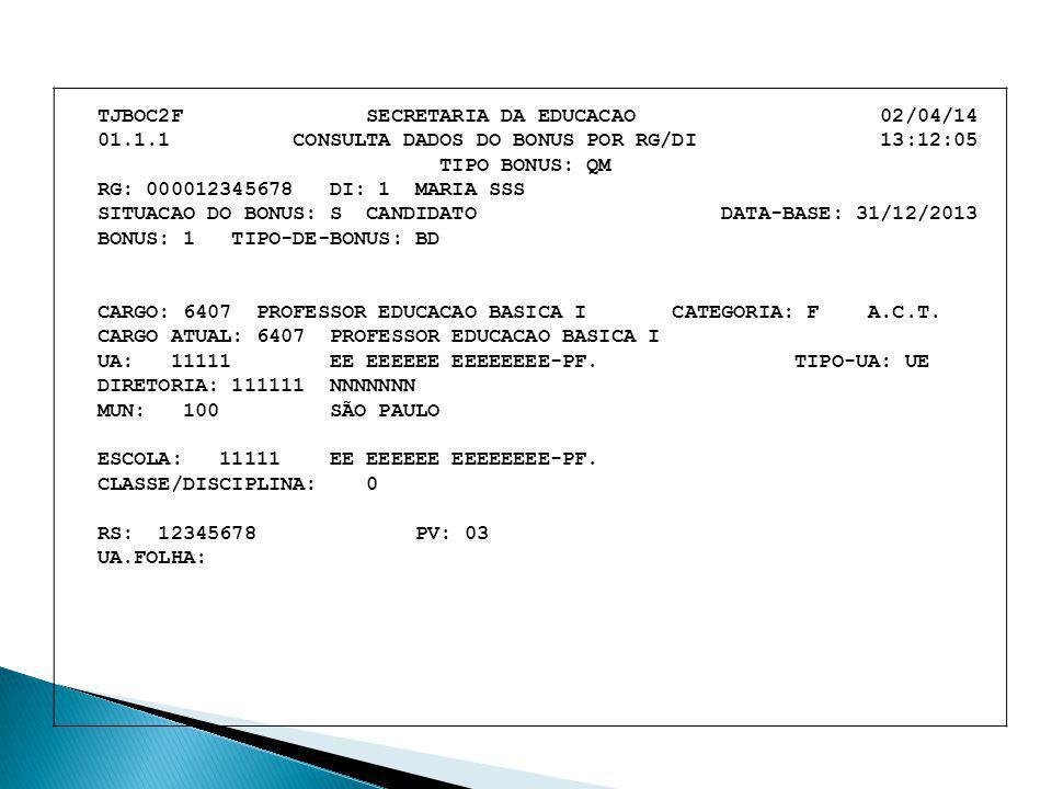TJBOC2F SECRETARIA DA EDUCACAO 02/04/14