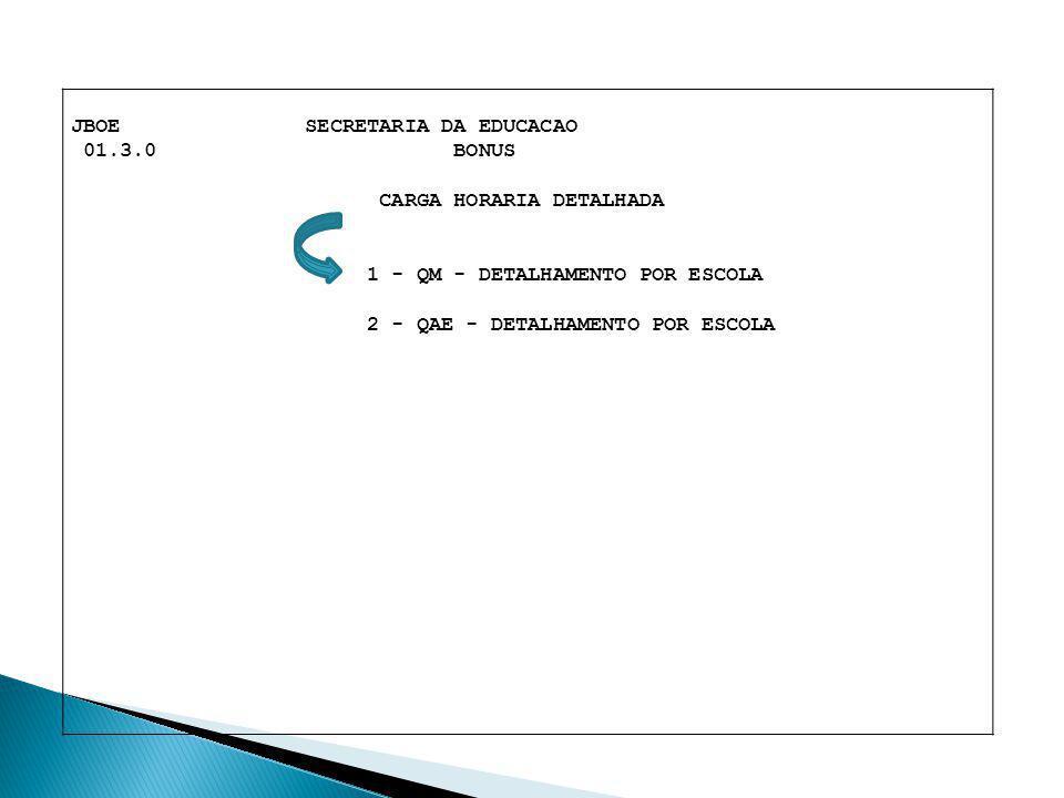 JBOE SECRETARIA DA EDUCACAO