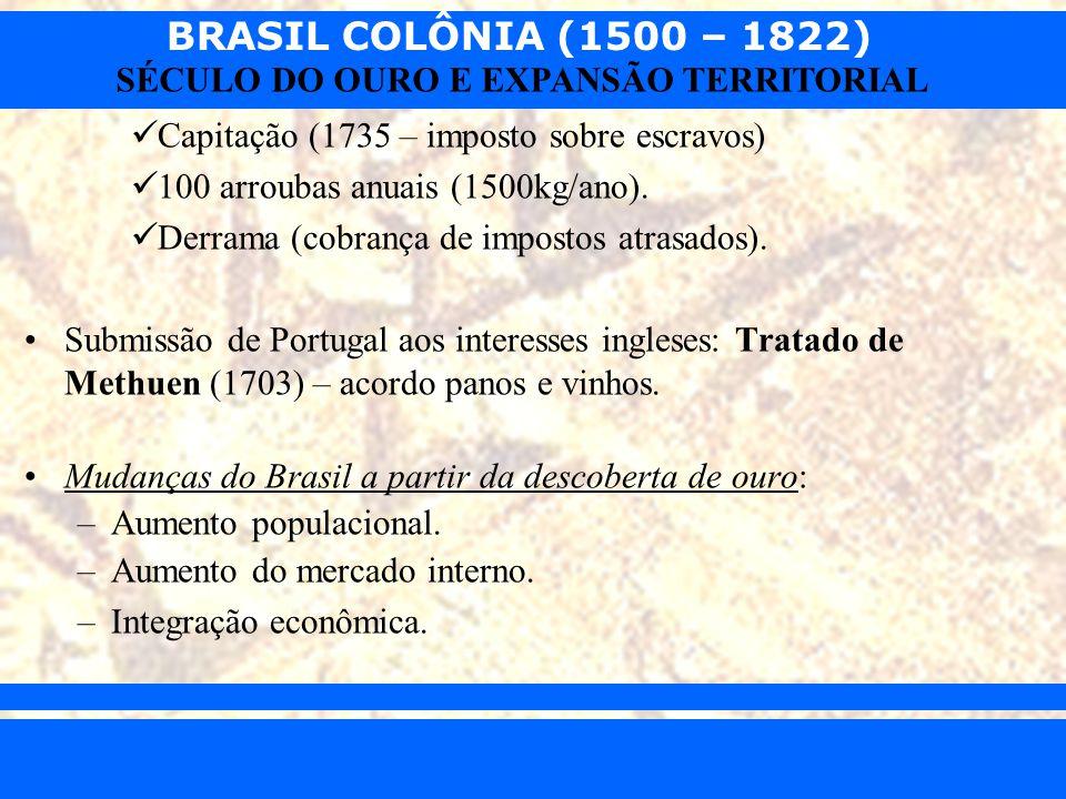 Capitação (1735 – imposto sobre escravos)