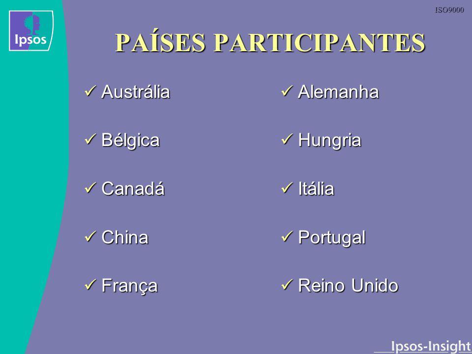 PAÍSES PARTICIPANTES Austrália Bélgica Canadá China França Alemanha