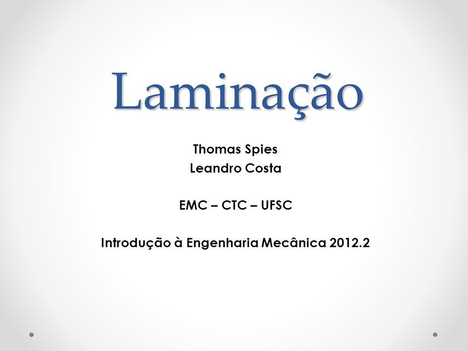 Introdução à Engenharia Mecânica 2012.2