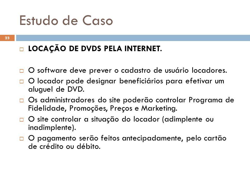 Estudo de Caso LOCAÇÃO DE DVDS PELA INTERNET.