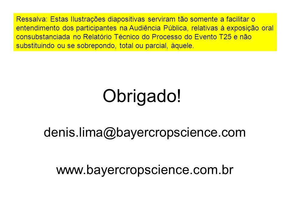 denis.lima@bayercropscience.com www.bayercropscience.com.br