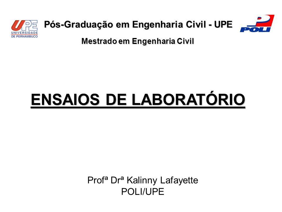 ENSAIOS DE LABORATÓRIO