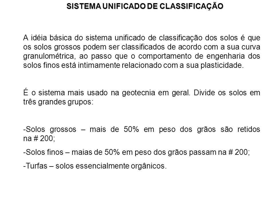 SISTEMA UNIFICADO DE CLASSIFICAÇÃO