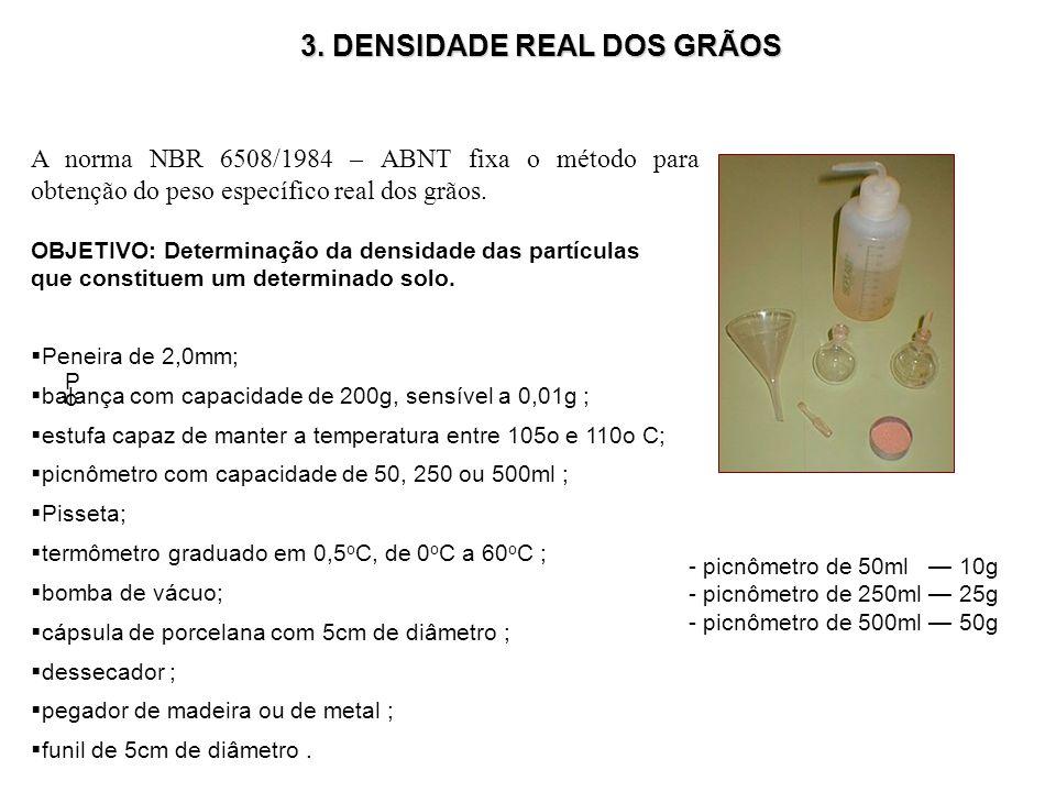 3. DENSIDADE REAL DOS GRÃOS