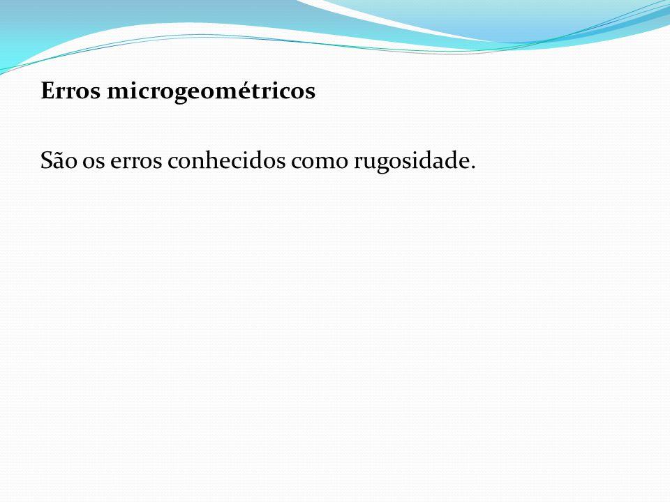 Erros microgeométricos São os erros conhecidos como rugosidade.