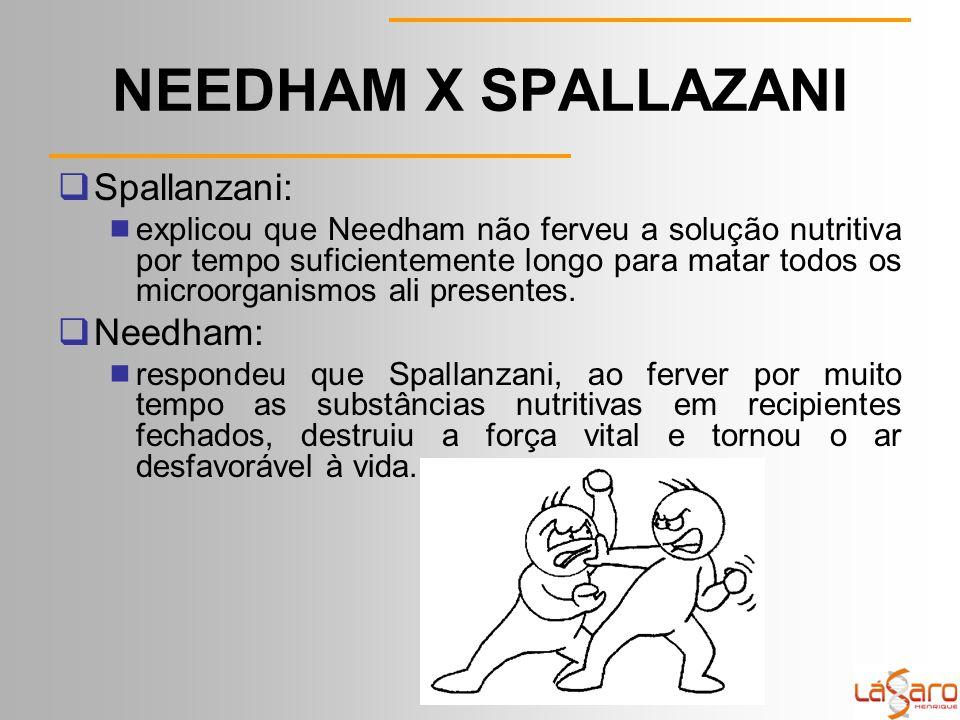 NEEDHAM X SPALLAZANI Spallanzani: Needham: