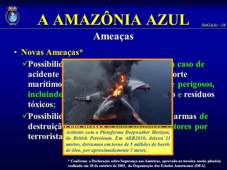 A AMAZÔNIA AZUL Ameaças Novas Ameaças*