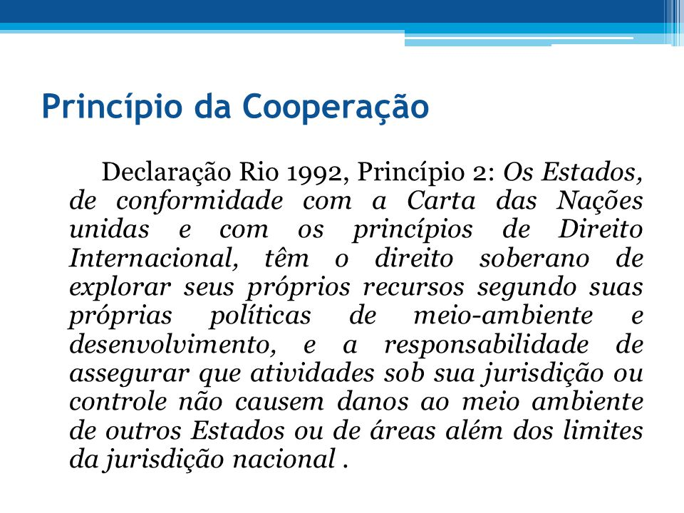 Princípio da Cooperação