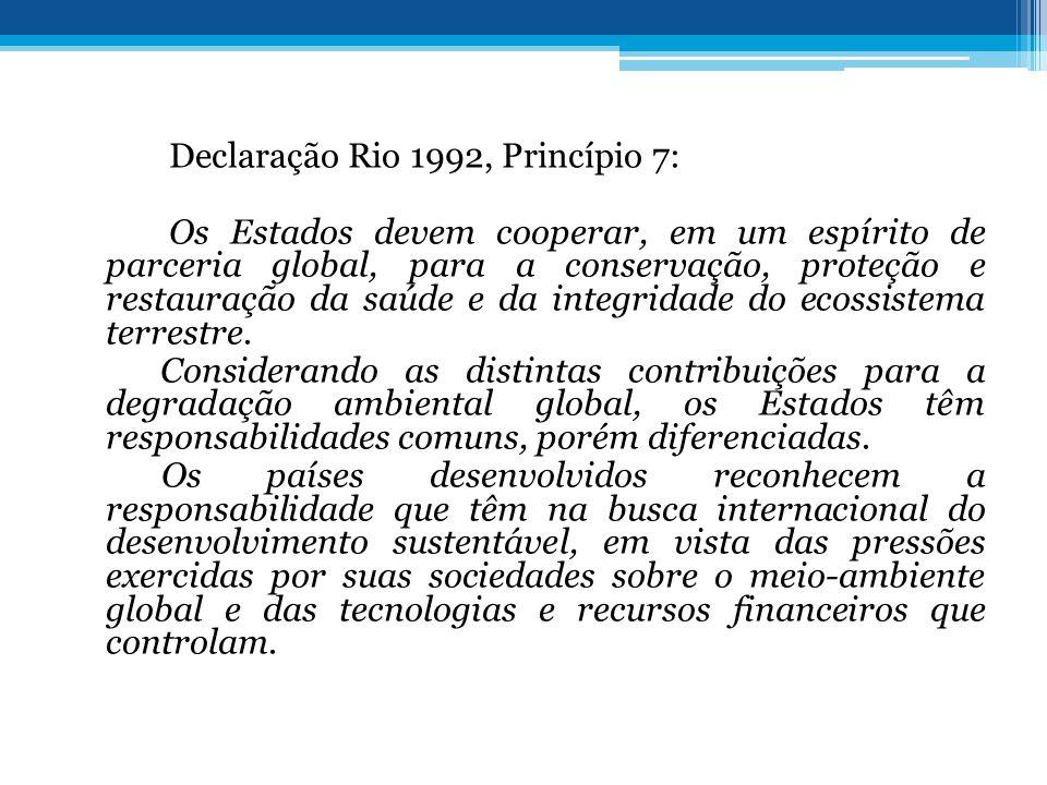 Declaração Rio 1992, Princípio 7: