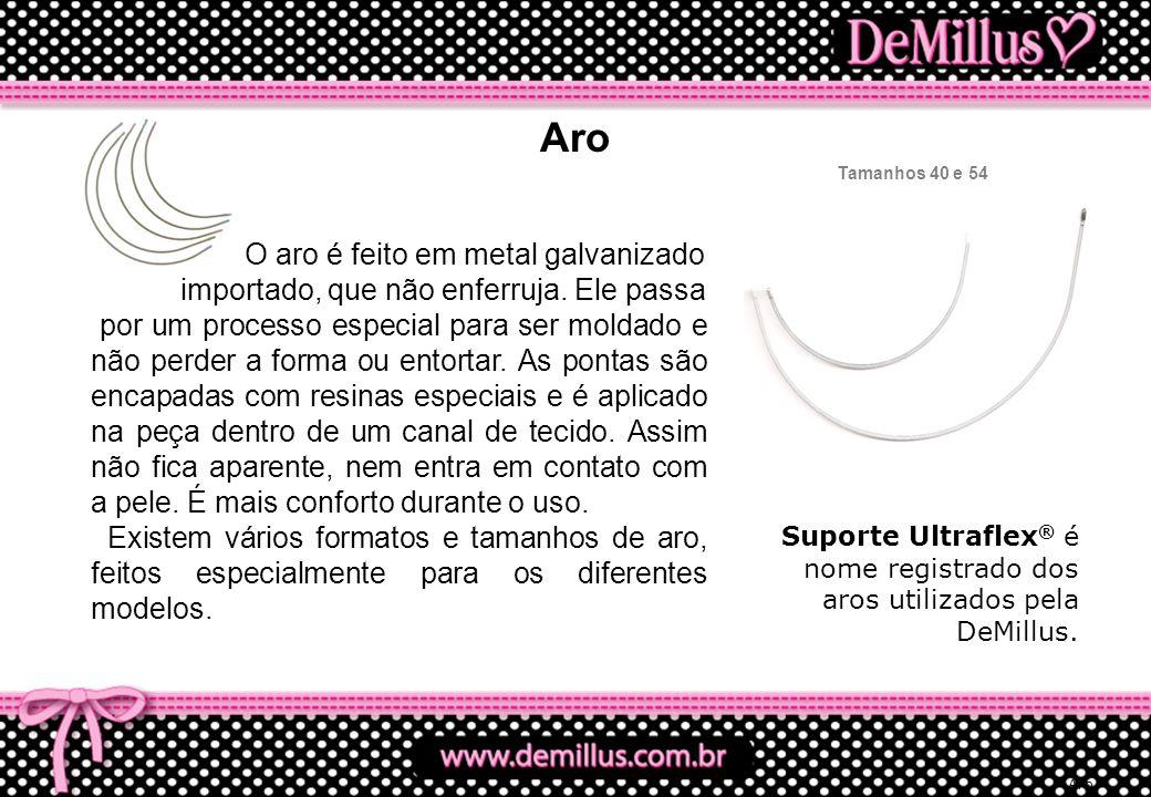 Aro O aro é feito em metal galvanizado