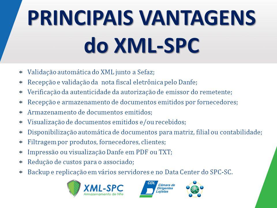 PRINCIPAIS VANTAGENS do XML-SPC
