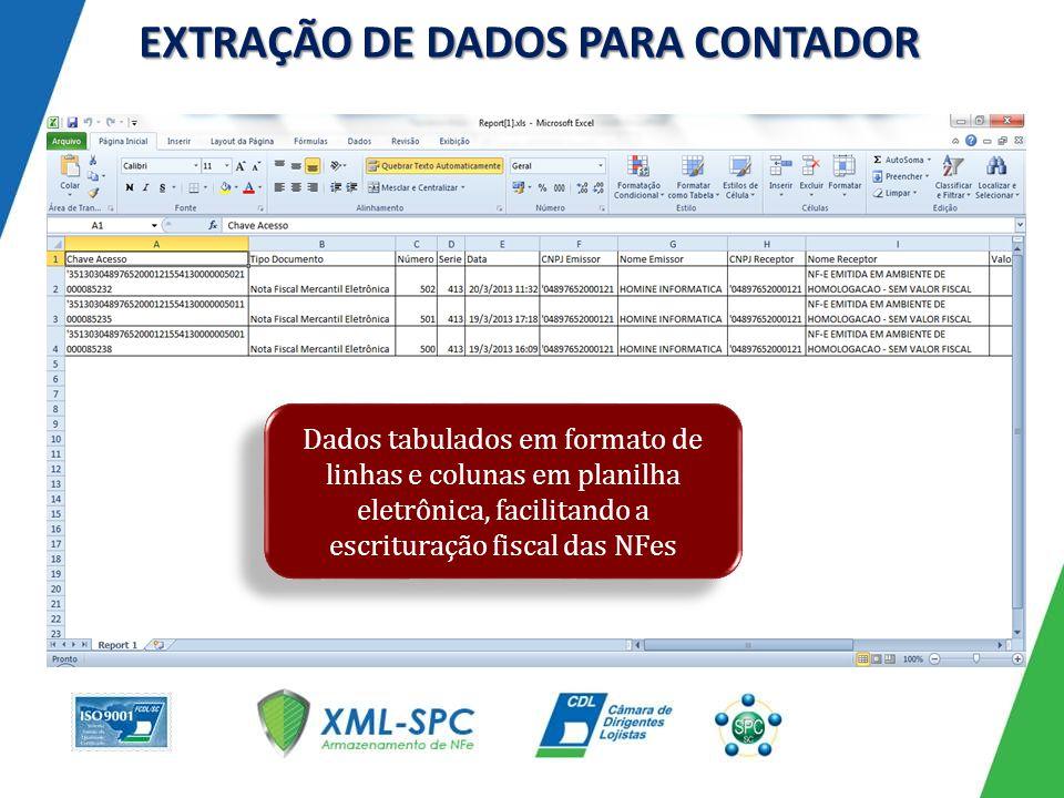 EXTRAÇÃO DE DADOS PARA CONTADOR