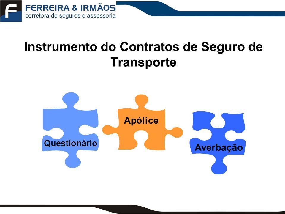 Instrumento do Contratos de Seguro de Transporte
