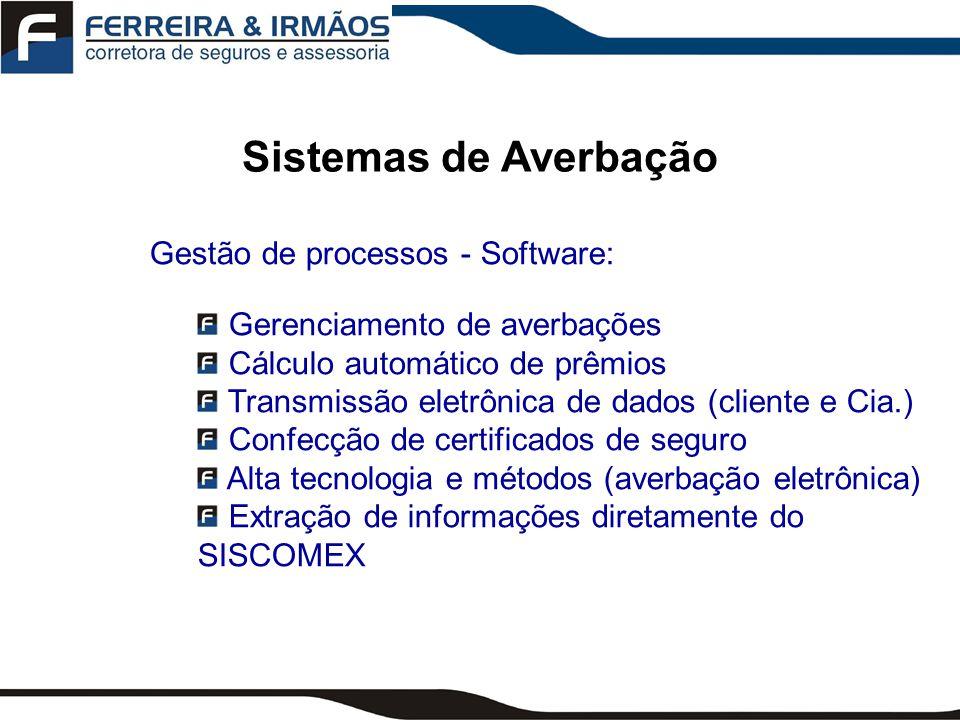 Sistemas de Averbação Gestão de processos - Software: