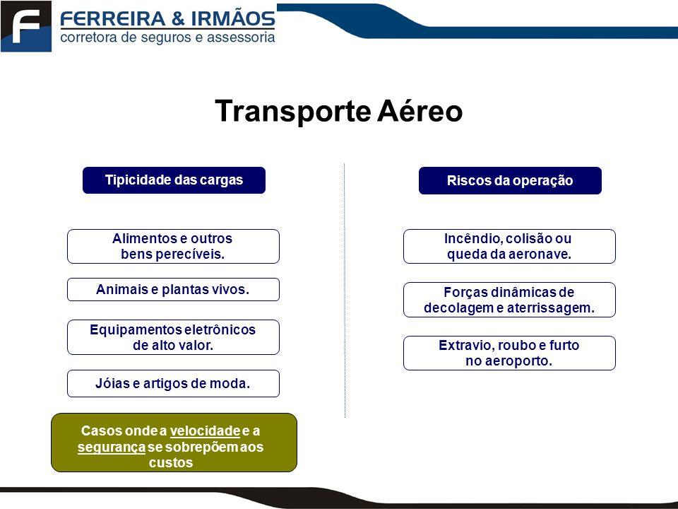 Transporte Aéreo Tipicidade das cargas Riscos da operação