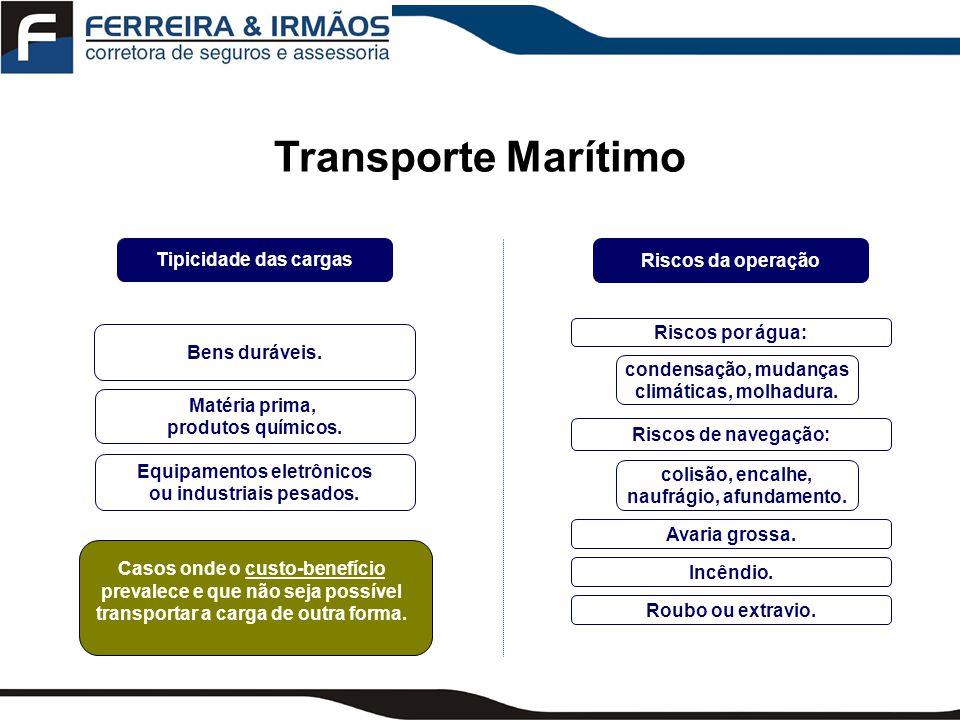 Transporte Marítimo Tipicidade das cargas Riscos da operação