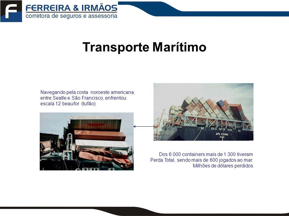Transporte Marítimo Navegando pela costa noroeste americana, entre Seatle e São Francisco, enfrentou escala 12 beaufor (tufão).