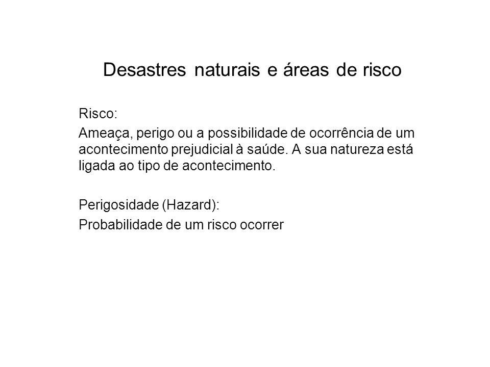 Desastres naturais e áreas de risco