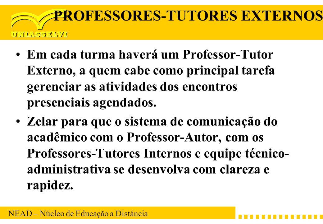 PROFESSORES-TUTORES EXTERNOS