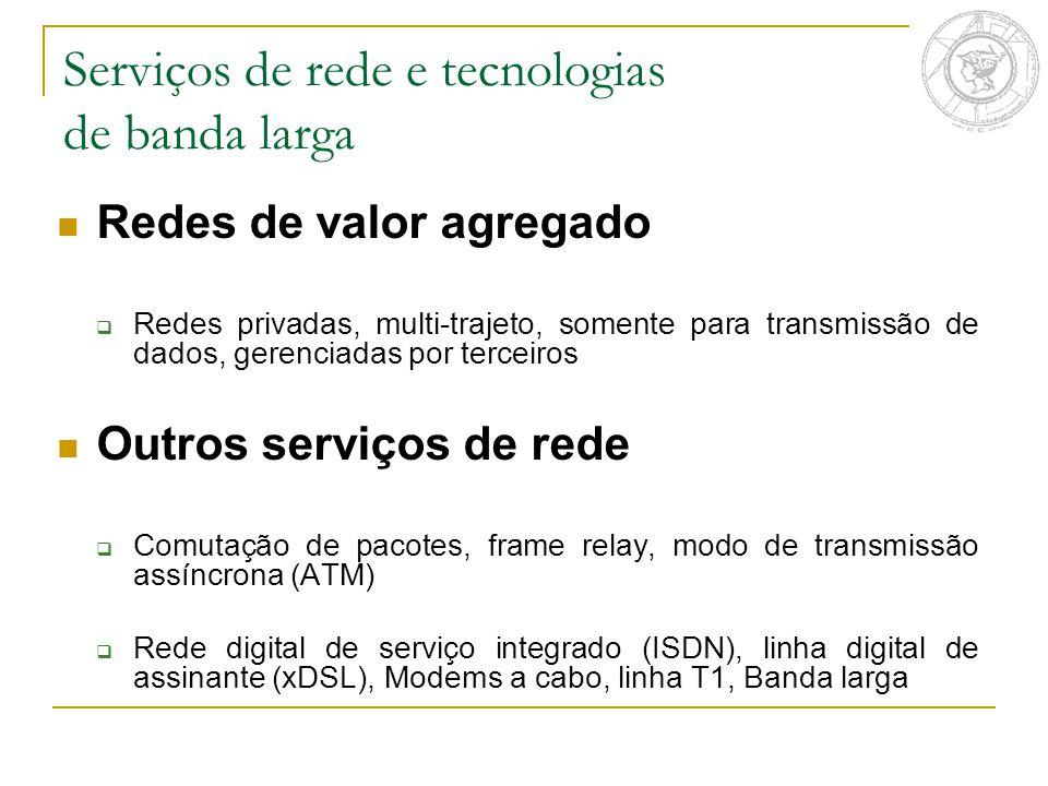 Serviços de rede e tecnologias de banda larga