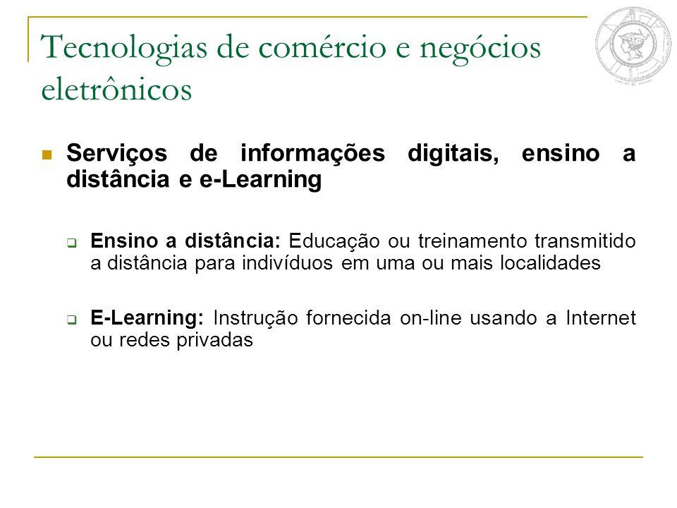 Tecnologias de comércio e negócios eletrônicos