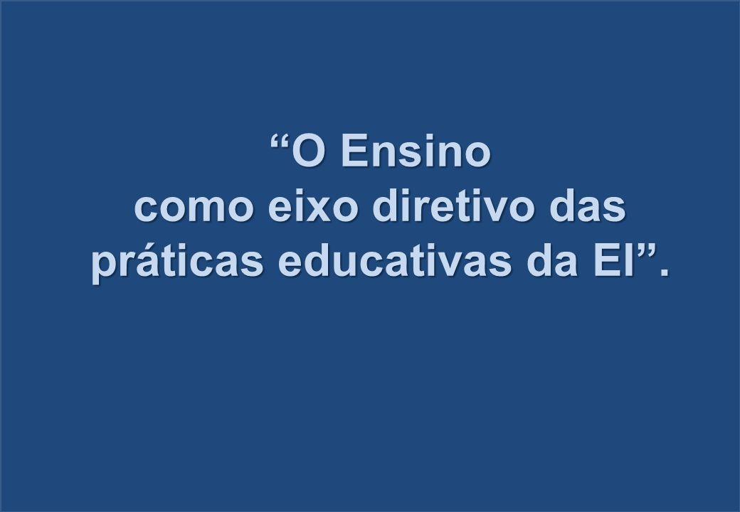 práticas educativas da EI .