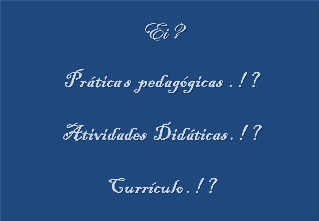 Ei Prática s pedagógicas . ! Atividades Didáticas . !