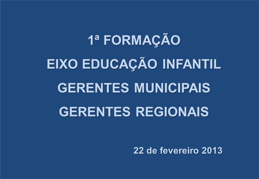 EIXO EDUCAÇÃO INFANTIL