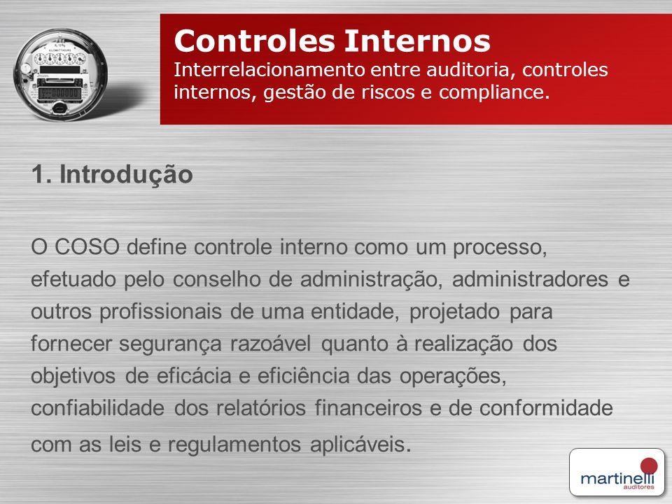 Controles Internos 1. Introdução