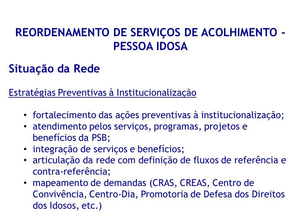 REORDENAMENTO DE SERVIÇOS DE ACOLHIMENTO - PESSOA IDOSA