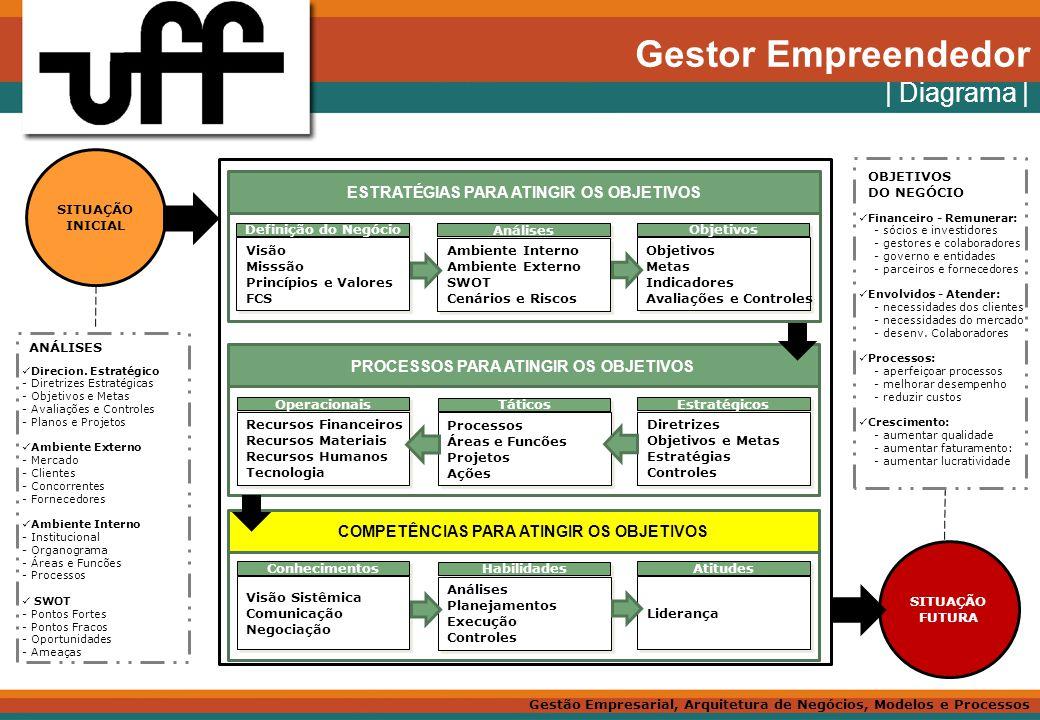 Gestor Empreendedor | Diagrama | ESTRATÉGIAS PARA ATINGIR OS OBJETIVOS