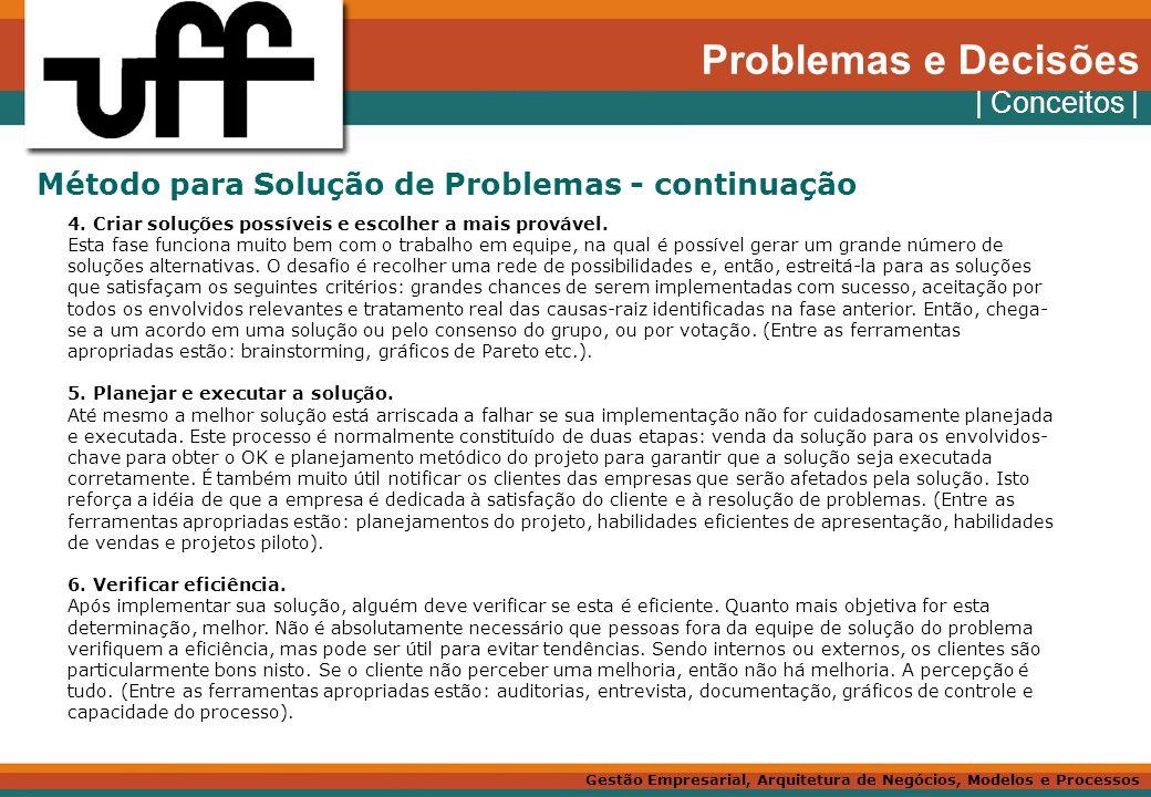 Problemas e Decisões | Conceitos |